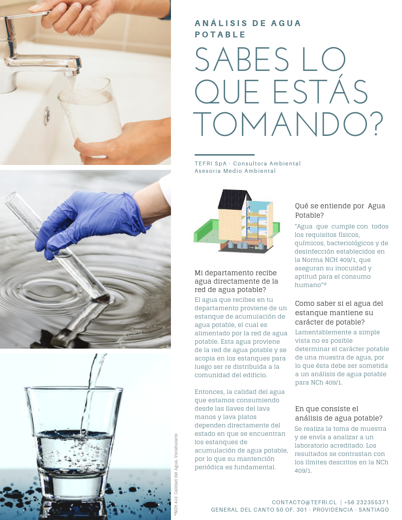 analisis agua potable